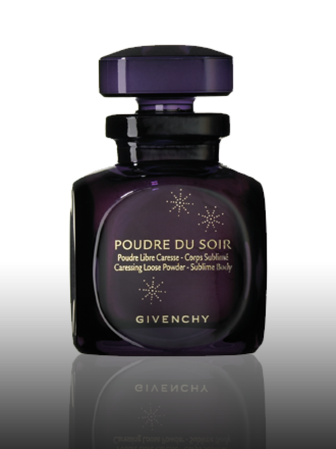 "<p>Poudre Du Soir Caressing Loose Powder, £37 by <a href=""http://www.givenchy.com/"">Givenchy</a>. For stockists call 01932 233 824.</p><p>A shimmering powder that gives a subtle glow to your décolletage, while also working as a fragrance. It has a unique"