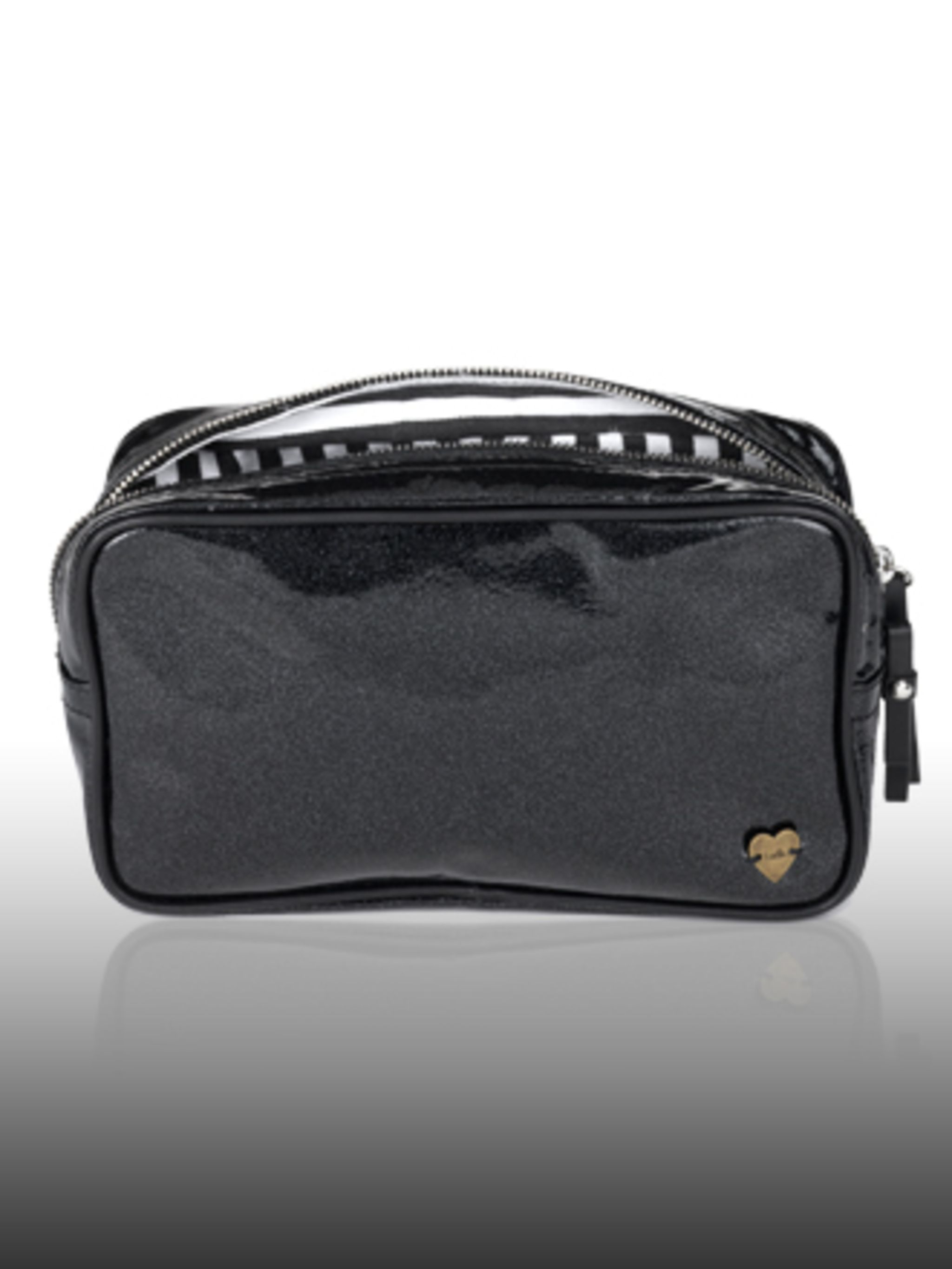 "<p>Make-up Bag, £99 by <a href=""http://www.luella.com/"">Luella</a> </p>"