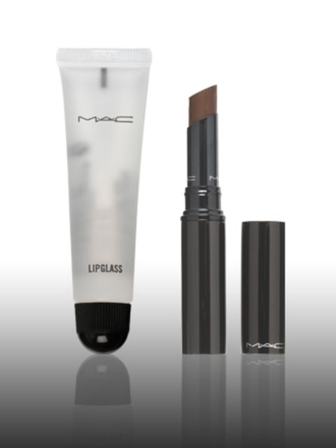 """<p>Clear Lipglass, £9.50 and Mattene Lipstick in Chock-ful Blackened Brown, £11.50 by <a href=""""http://www.maccosmetics.co.uk/templates/products/category.tmpl?CATEGORY_ID=CAT3726"""">Mac</a> </p><p><a href=""""http://www.elleuk.com/beauty/beauty-trends/berry-lip"""
