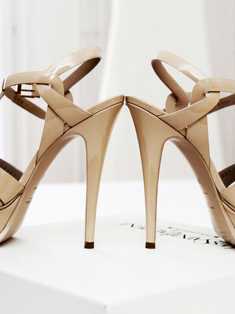 "<p>I knew that I didn't want white wedding shoes, and earlier this February, I went with my mother to Madrid for a weekend, where I found these perfect <a href=""http://www.ysl.com/gb"" target=""_blank"">Yves Saint Laurent</a> sandals.</p>"