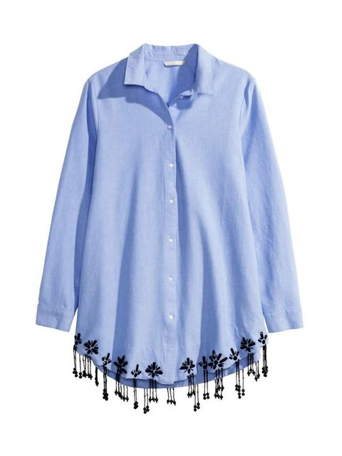 """<p>Simple, with a twist; and on Designer Charlotte Wallace's shopping list.</p>  <p><a href=""""http://www.hm.com/gb/product/62892?article=62892-A"""" target=""""_blank"""">H&M</a> shirt, £39.99</p>"""