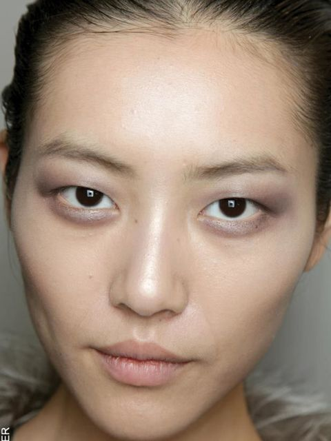 """<p>Although metallics are back they were used to a much softer effect. Gone was the eye-watering bling of past seasons, instead murky pewter, tarnished violet and dirty ice blue were shades of choice at <a href=""""http://www.elleuk.com/catwalk/collections/c"""