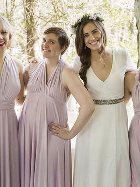<p>Allison Williams is joined by her Girls co-stars for her 'Girls wedding' that she shared on her own Instagram.</p>