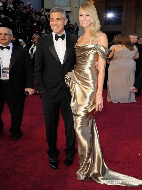 <p>George Clooney and Stacey Keibler</p>