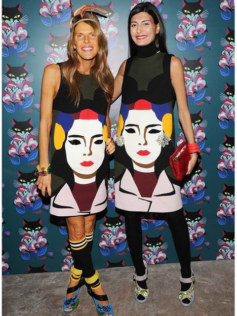 <p>Best 'I don't care that she's wearing it too' face:</p><p>Anna Dello Russo and Giovanna Battaglia at Miu Miu party</p>