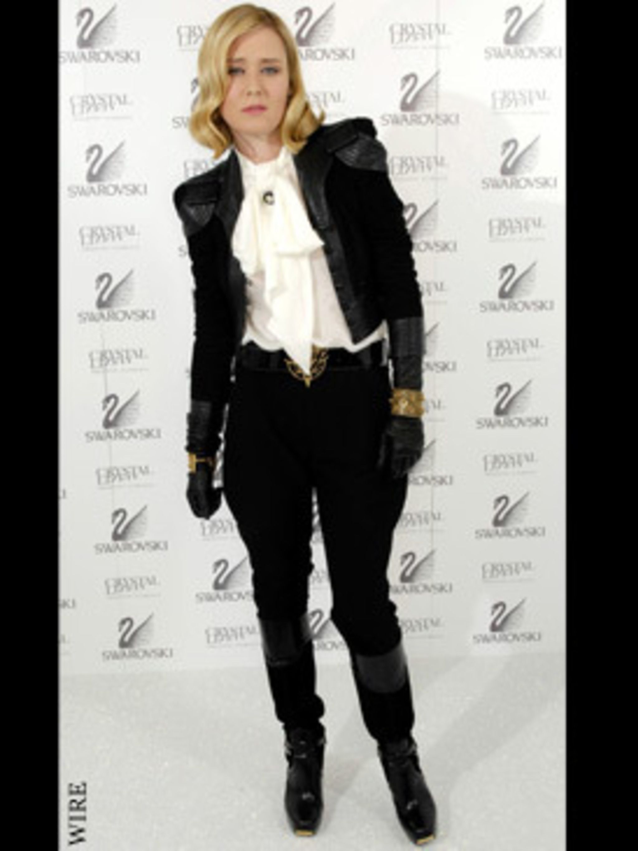 <p>Roison is a huge fan of 1980's style shoulder pads - she sported this heavily padded jacket to last years Q awards.</p>