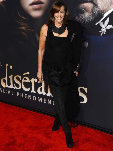 <p>Designer Donna Karan attends the Les Miserables premiere in an all black outfit, New York.</p>