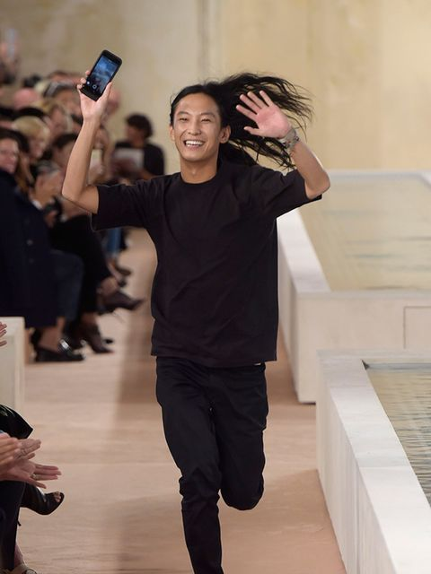 "<p>The selfie = the new end of show bow. <a href=""http://www.elleuk.com/tags/alexander-wang"" target=""_blank"">Alexander Wang</a> waving goodbye to his stint at <a href=""http://www.elleuk.com/tags/balenciaga"" target=""_blank"">Balenciaga</a> with a running se"