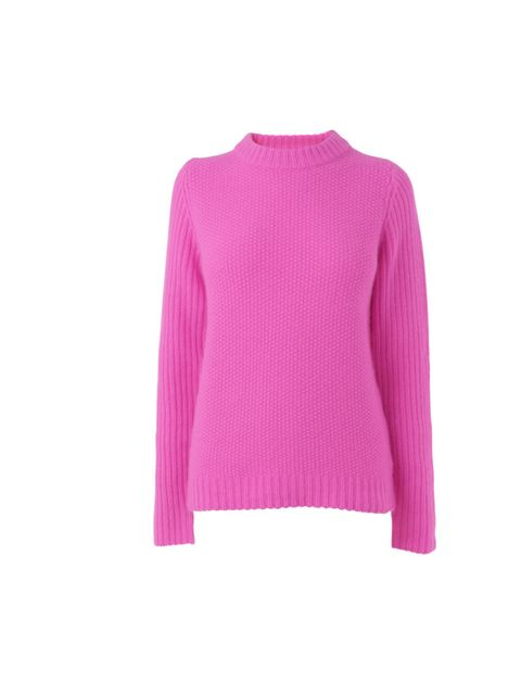 "<p><a href=""http://www.jaeger.co.uk/"">Jaeger</a> neon knitted jumper, was £140, now £90</p>"