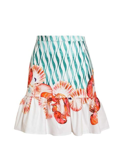 "<p>Mind out for the claws.</p><p>Isolda skirt, £275 at <a href=""http://www.brownsfashion.com/product/03I220690006/236/lobster-printed-cotton-miniskirt"">Browns</a></p>"
