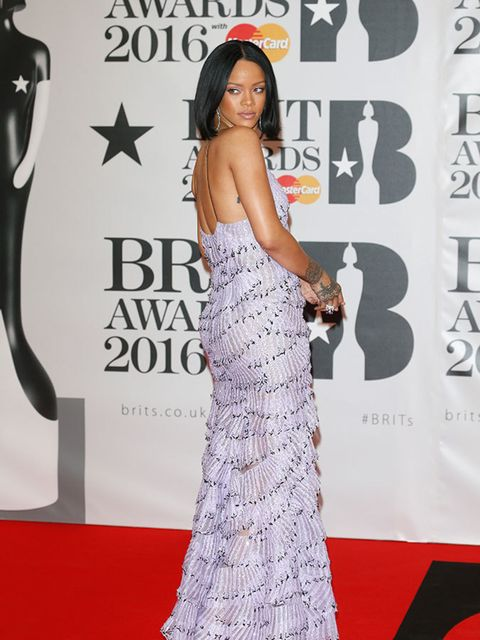 Rihanna at the BRIT Awards in London, February 2016.