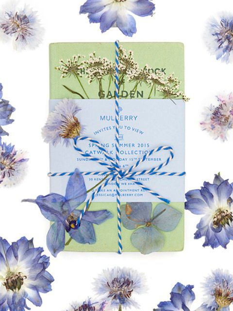 Mulberry  (@mulberry editor)  'Discover the story of our beautiful #MulberrySS15 #LFW invitations on mulberry.com/Journal'
