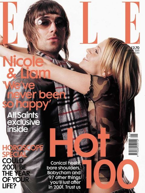 <p>Liam Gallagher and Nicole Appleton, January 2001</p>