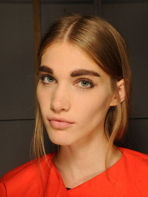 """<p>Ears were a common thread amongst hair stylists. Whatever the shape and finish (although it was invariably dry and textured), hair at <a href=""""http://www.elleuk.com/catwalk/collections/costume-national/"""">Costume National</a>, <a href=""""http://www.elleuk"""
