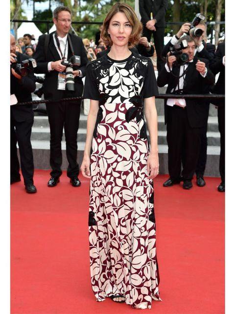 """<p><a href=""""http://www.elleuk.com/star-style/celebrity-style-files/sofia-coppola"""">Sofia Coppola</a>, in a <a href=""""http://www.elleuk.com/catwalk/designer-a-z/marc-jacobs/autumn-winter-2014"""">Marc Jacobs</a> dress, attends the Palme D'Or ceremony at the 67t"""