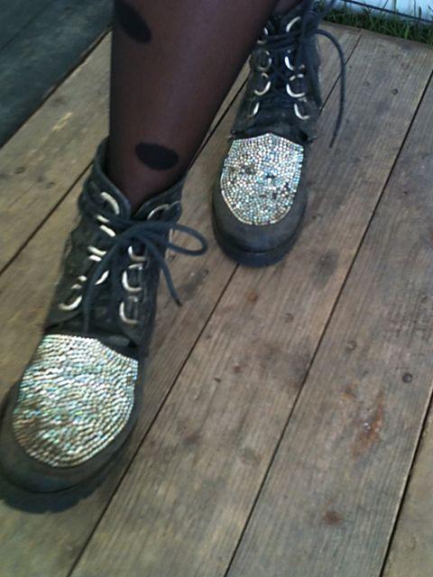 <p>Gemma Cairney's Terry de Hallivand boots</p>
