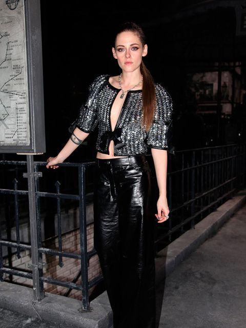 Kristen Stewart attends the Chanel Metiers d'Art show, Italy, December 2015.