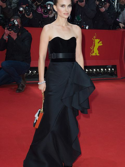 Natalie Portman wears Lanvin to the Knight of Cups film premiere at the 65th Berlinale International Film Festival in Berlin, February 2015.