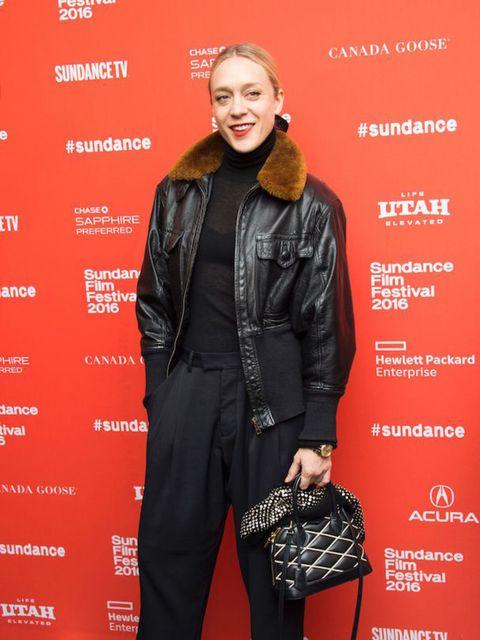 At the Yoga Hosers premiere at Sundance film festival, Jan 2016