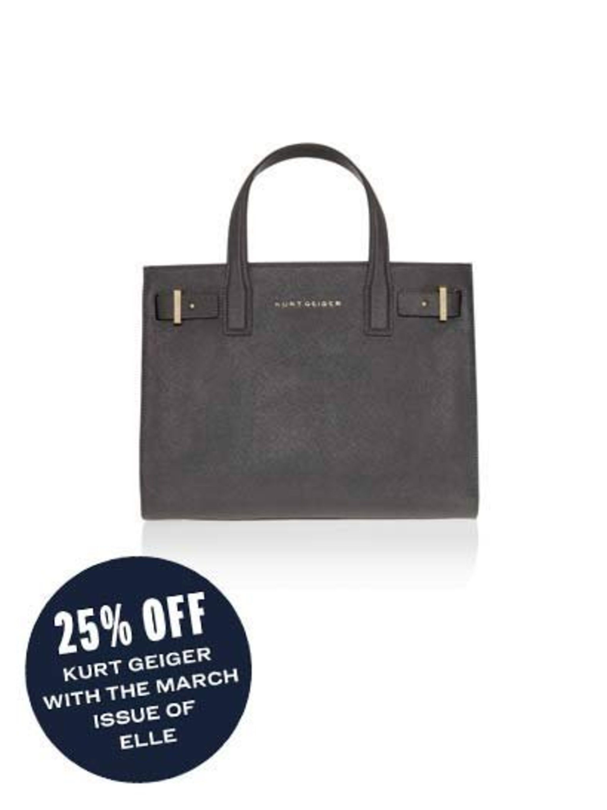 "<p>Why not opt for black instead of grey? </p><p><a href=""http://www.kurtgeiger.com/saffiano-london-tote-grey-saffiano-leather-kurt-geiger-london-accessory.html"">Classic tote</a>, £195</p>"