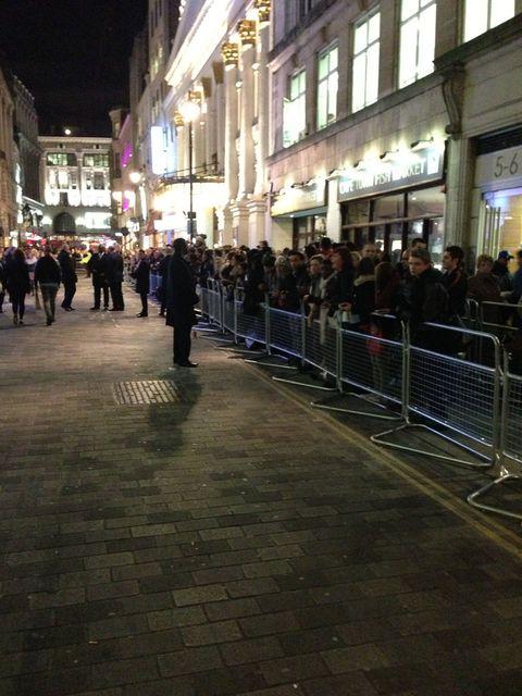 <p>Fans outside the venue waiting for Kardashians to arrive</p>