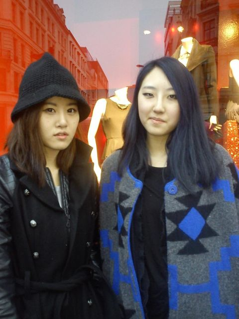<p>Unji Cho and Ujin Kim, both studying fashion at Central Saint Martin's </p>