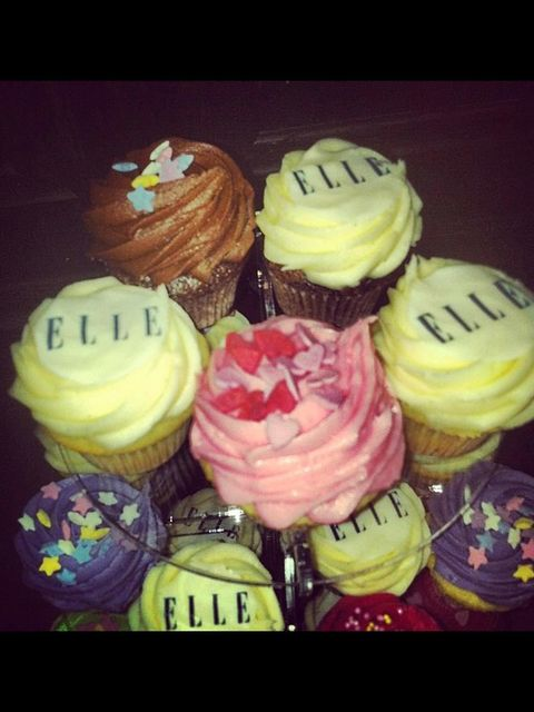 <p>ELLE cupcakes from Lola's</p>