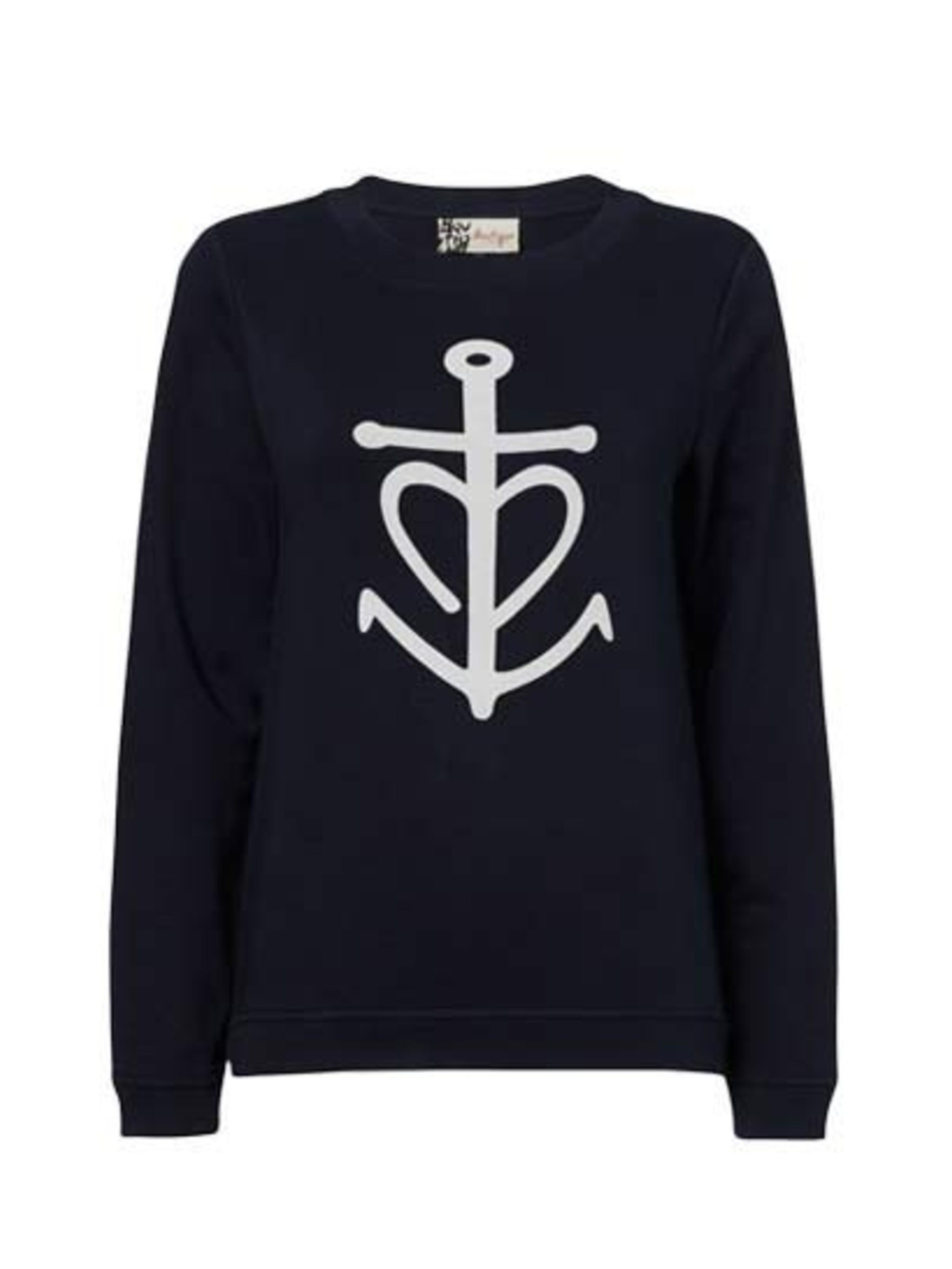"""<p>Tap into the nautical trend with this simple sweatshirt; yacht not included, sadly.</p><p><a href=""""http://www.jaeger.co.uk/Anchor%20Sweatshirt/680073H,en_GB,pd.html?dwvar_680073H_color=75000&dwvar_680073H_size=XS&start=7&cgid=new_in_boutique"""">Jaeger Bo"""