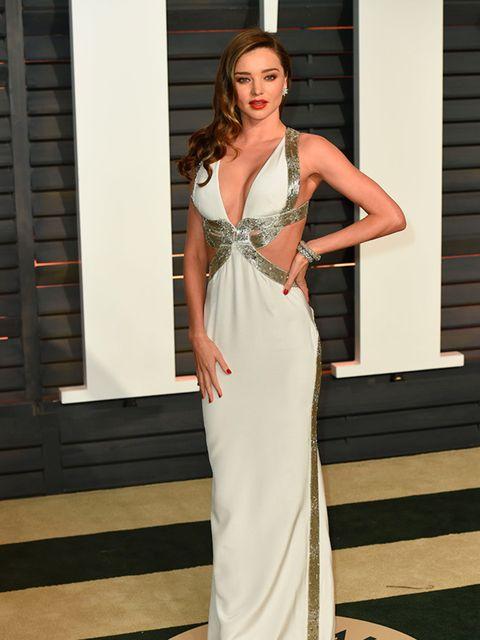 Miranda Kerr arrives for the Vanity Fair Oscar Party, February 2015.