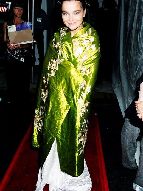 <p>Björk arrives for the MTV Video Music Awards, 1994.</p>