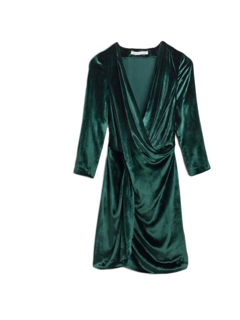 "<p>Fashion Features Assistant Jules Kosciuczyk will give this emerald velvet dress an edge with a pair of grungy ankle boots.</p><p><a href=""http://www.stories.com/Ready-to-wear/Dresses/Draped_dress/582938-591368.1"">& Other Stories</a> dress, £95</p>"