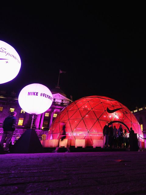 <p>The Nike Flyknit hub at Somerset House</p>