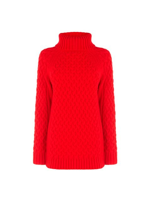 """<p>Nothing says Christmas quite like a red poloneck. Just add matching red lippy and statement earrings.</p><p><a href=""""http://www.warehouse.co.uk///warehouse/fcp-product/6380030161"""" target=""""_blank"""">Warehouse</a> poloneck, £42</p>"""