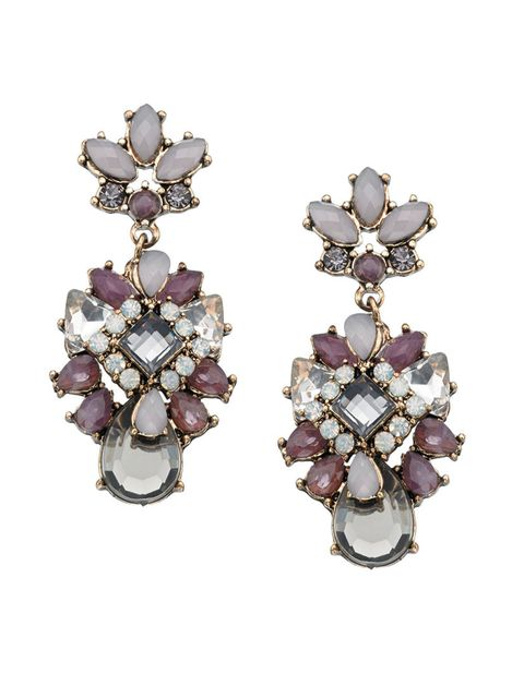 """<p>For more subdued sparkle, go for these muted purple drop earrings.</p><p>Rio chandelier earrings, £14, from <a href=""""http://uk.accessorize.com/view/product/uk_catalog/acc_2,acc_2.4/6810503500"""" target=""""_blank"""">Accessorize</a>.</p>"""