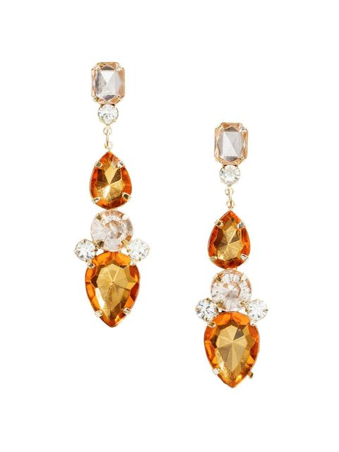 """<p>Amber alert.</p><p>Sparkly stone earrings, £3.99, from <a href=""""http://www.hm.com/gb/product/40564?article=40564-A"""" target=""""_blank"""">H&M</a>.</p>"""