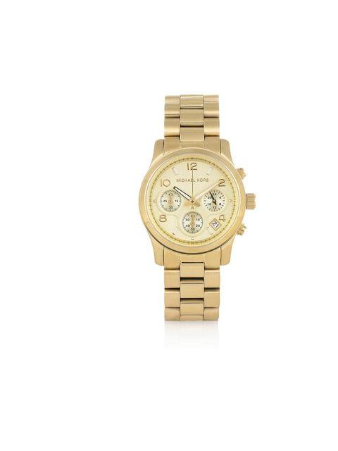 """<p>Michael Kors chronograph watch, £199, at <a href=""""http://www.selfridges.com/en/Womenswear/Categories/Jewellery-watches/Watches/MK5055-chronograph-watch_759-10001-MK5055"""">Selfridges</a></p>"""