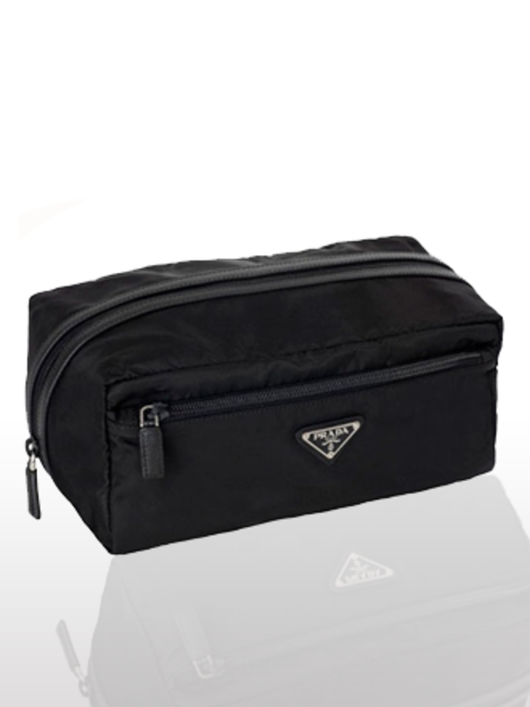 "<p>Make-up Bag, £130 by <a href=""http://www.prada.com/buy-online/?countryid=16%E2%8C%A9=en"">Prada</a></p><p>The elleuk.com team love Prada's functional, yet chic make-up bags. </p>"