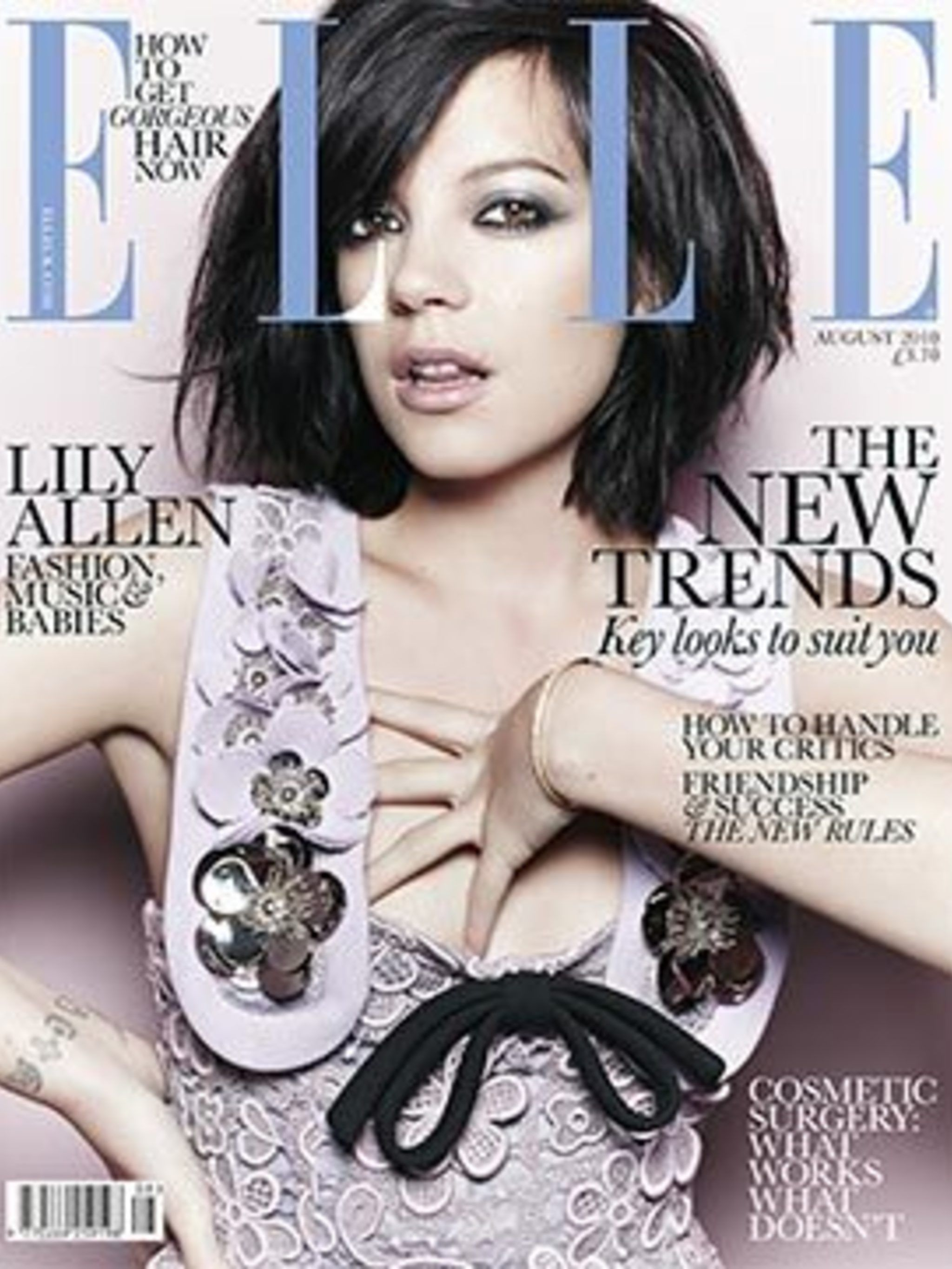 <p>Lily Allen on the August 2010 cover of ELLE</p>
