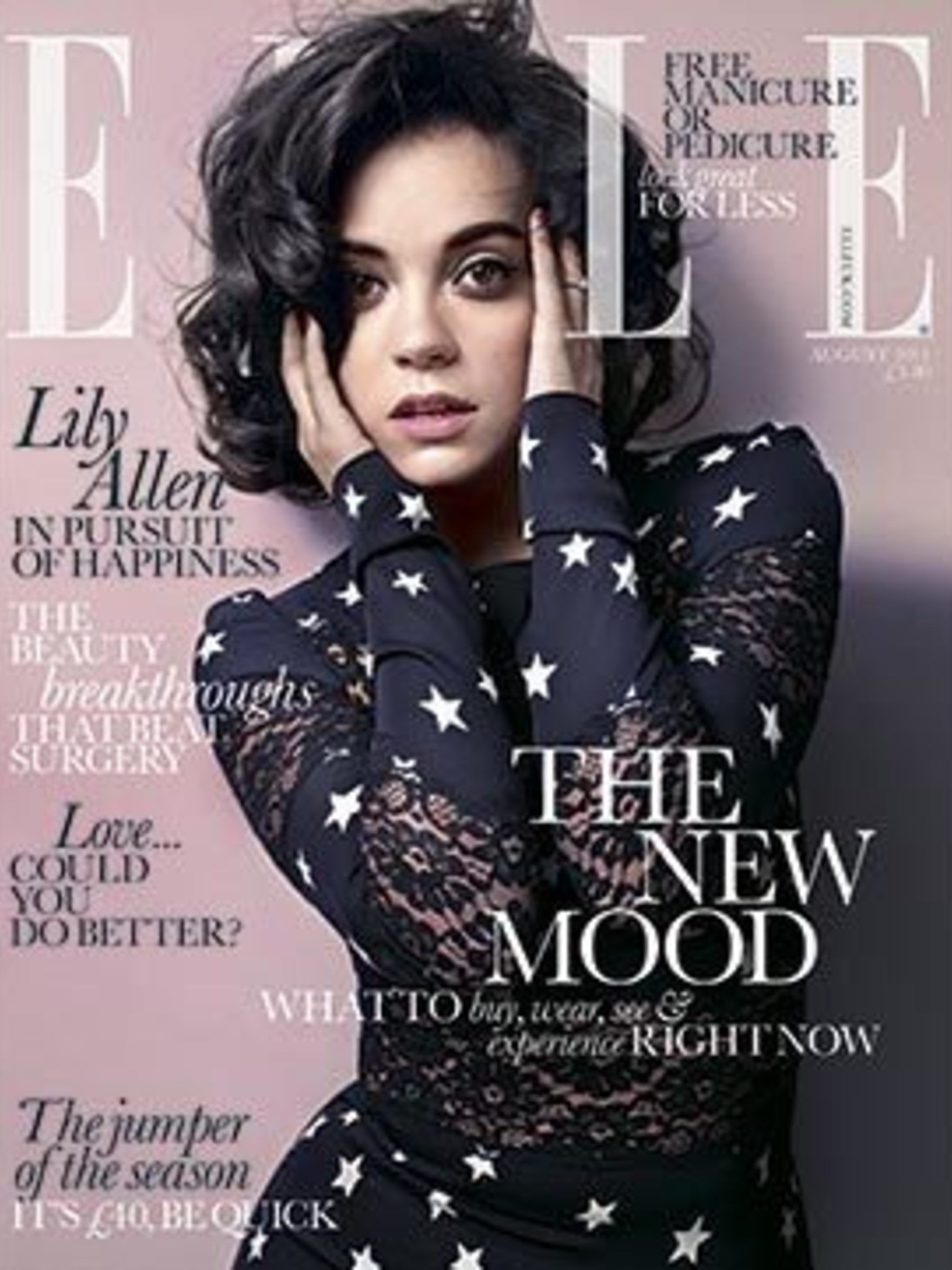 <p>Lily Allen on the August 2011 cover of ELLE</p>