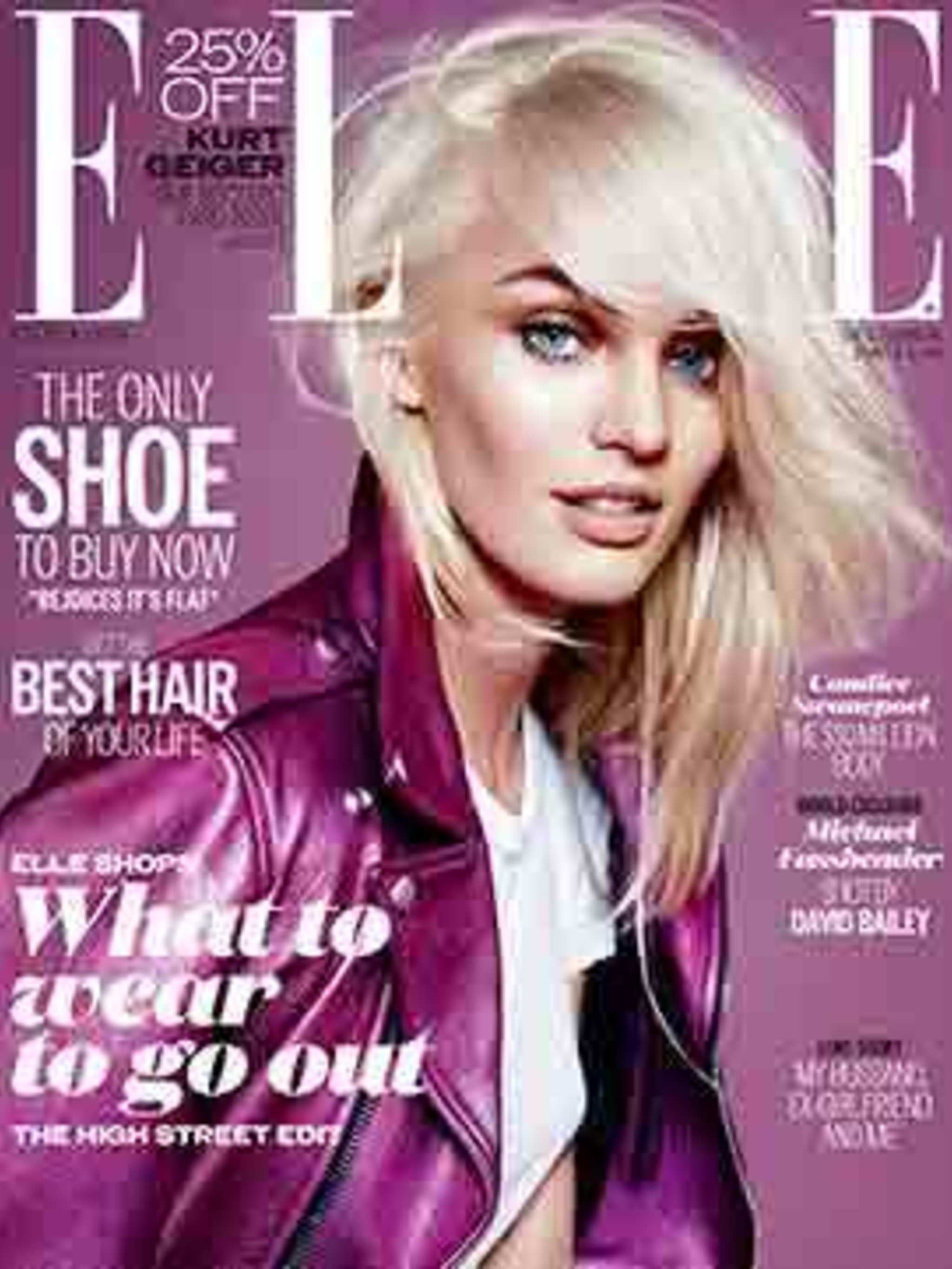 <p>Candice Swanepoel on the December cover of ELLE</p>