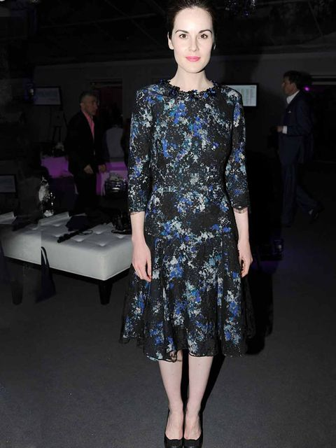 <p>Michelle Dockery wears Erdem to a fashion party in London, May 2012.</p>