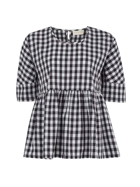 "<p>Acting Commissioning Editor Georgia Simmons will pair gingham with denim.</p>  <p><a href=""http://www.atterleyroad.com/black-gingham-woven-top-1.html"" target=""_blank"">Atterley Road</a> top, £35</p>"