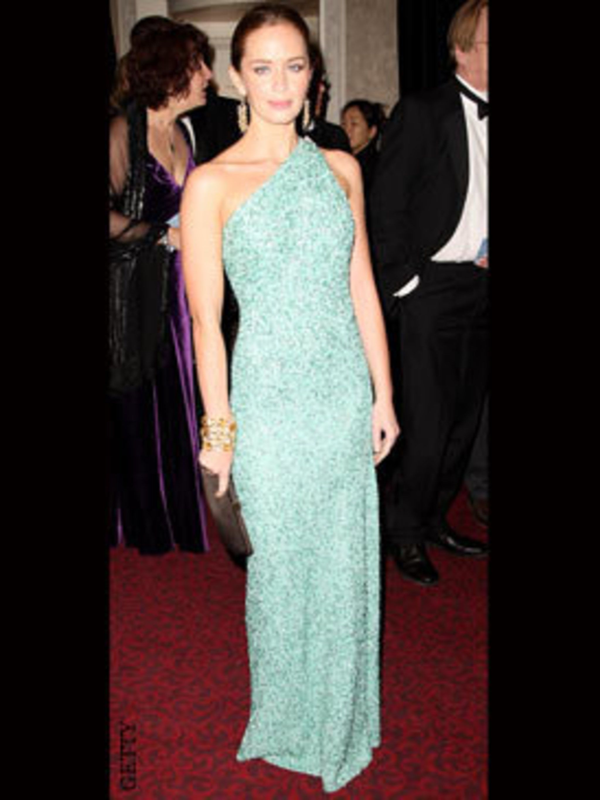 <p>Emily Blunt in Marc Bower</p>