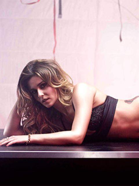 <p>Cheryl Cole on the set of Crazy Stupid Love</p>