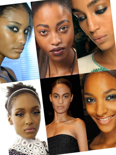 <p>This S/S12 the catwalk was awash with some truly eclectic and directional trends, which not only look good on the runway but also on darker skin tones.  To get this season's look see how to create gilded gold leaf metallics on the eyes, wine-stained st