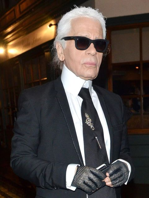 <p>Karl Lagerfeld of Chanel </p>