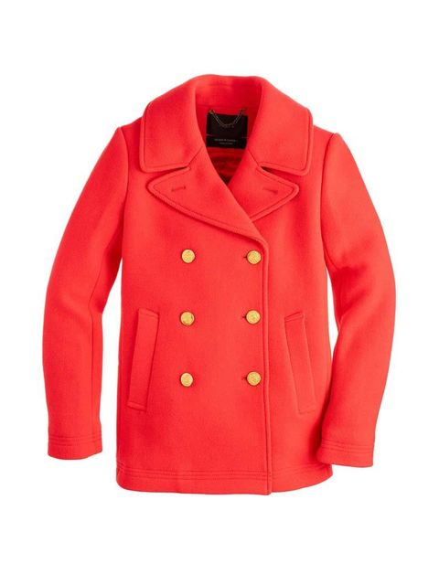"<p>Chase away the January blues with fire-engine red.</p>  <p><a href=""https://www.jcrew.com/uk/womens_category/outerwear/wool/PRD~49360/49360.jsp"" target=""_blank"">J.Crew</a> coat, £298</p>"