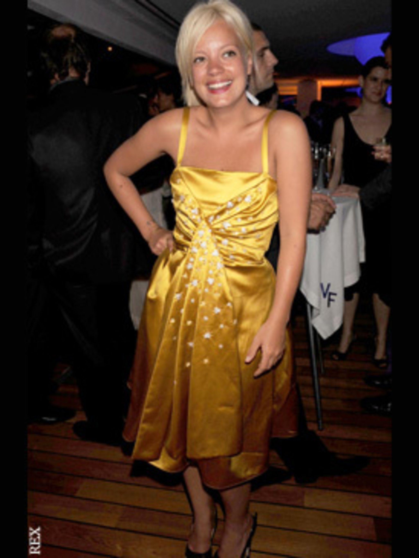 <p>Lily Allen in this season's ubiquitous stars</p>