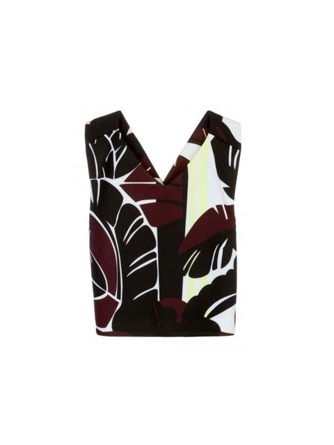 "<p>Fashion Intern Chloe Bloch will pair this printed number with mannish trousers and brogues.</p><p><a href=""http://www.bimbaylola.com/shoponline/product.php?id_product=8979&id_category=524"">Bimba y Lola</a> top, £98</p>"