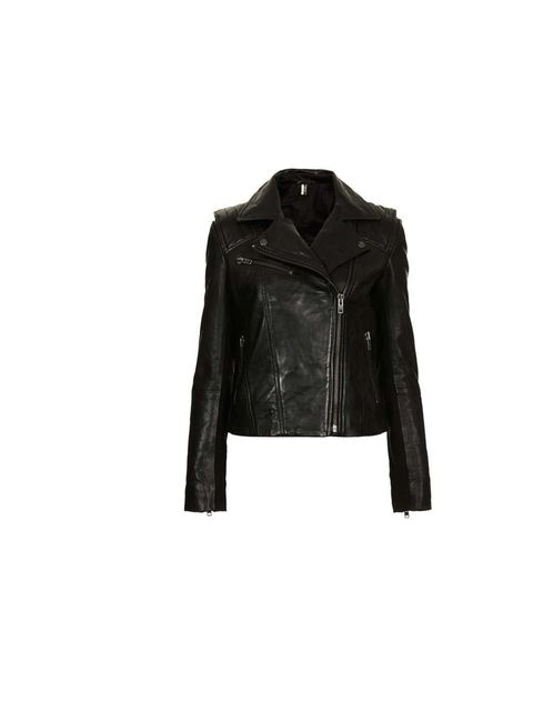 """<p>A leather biker jacket will give you the cool, laid-back feel..</p><p>This is from <a href=""""http://www.topshop.com/en/tsuk/product/clothing-427/jackets-coats-445/biker-bomber-jackets-574/leather-biker-jacket-2118873?refinements=category~%5B209750%7C208"""